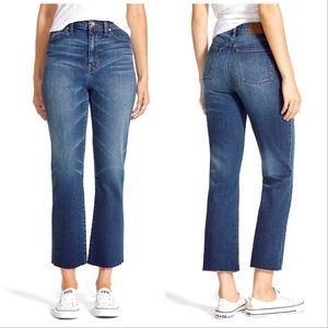 Madewell High Riser Crop Flare Jeans sz 25